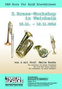 Brassworkshop Plakat 2014